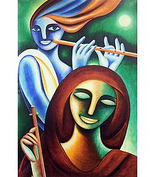 Krishna and Meerabai