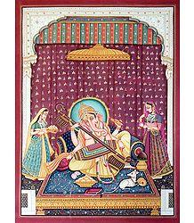 Ganesha Playing Sitar - Photographic Print