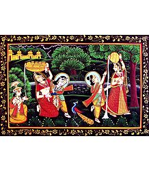 Natkhat Krishna and His Friends  - Photographic Print