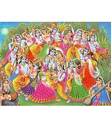 Krishna Lila - One Krishna for Each Gopini