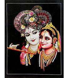 Radha Holding krishma's Flute