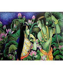 Radha Krishna in a Secret Rendezvous