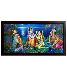 Enchanted Gopinis Watching the Shringar of Radha by Krishna
