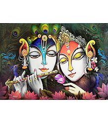 Radha Krishna Enjoying Each Other's Company