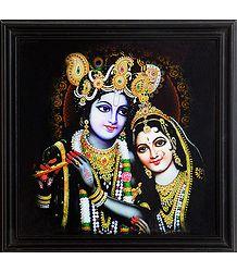 Shop Online Framed Picture of Radha Krishna