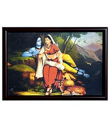 Radha Krishna - Framed Wall Hanging Picture