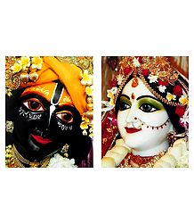 Set of 2 Radha Krishna - Photographic Print