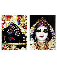 Set of 2 Radha Krishna Photographic Print