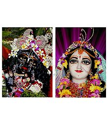 Set of 2 Radha Krishna Photographic Print