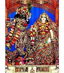 Radha Krishna Photographic Print