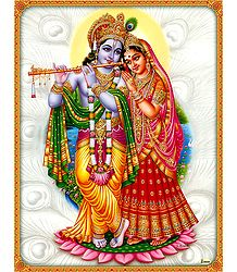 Radha Krishna - The Divine Lovers- Poster