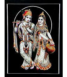 Radha Mesmerised by Krishna's Flute