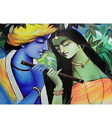 Rendezvous of Radha and Krishna
