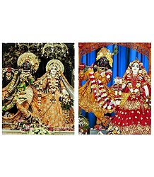 Radha Krishna - Set of 2 Photo Print