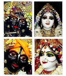 Radha Krishna Picture - Set of 4 Photo Prints