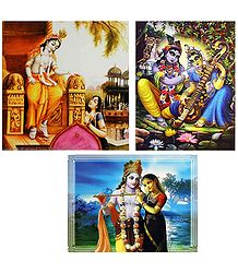Radha Krishna - Set of 3 Posters
