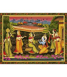 Krishna Enchants with the Music of His Flute