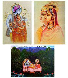 Radha Krishna - Set of 3 Posters