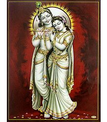 Radha Learing Flute from Krishna