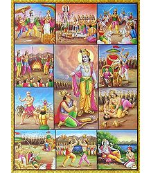 Scenes from Mahabharata - The great Indian Epic - Poster