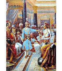 Sri Krishna in His Role as Envoy of Pandavas to the Kaurava Court