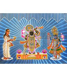 Srinathji, Krishna and Sudama - Poster