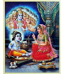 Krishna Showing Vishvaroop to Maa Yashoda