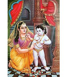 Yashoda and Krishna Picture