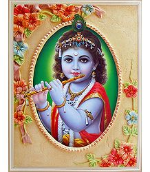 Young Krishna Playing Flute