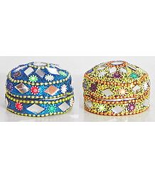 Set of 2 Kumkum Containers