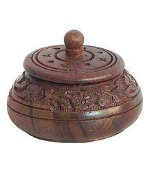 Buy Wooden Kumkum Container