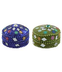 Decorative Metal Kumkum Containers