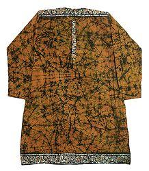 Batik Print Cotton Kurta