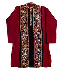 Red Batik Cotton Kurta
