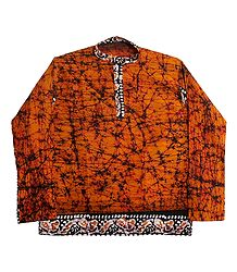 Saffron Batik Short Kurta for Men