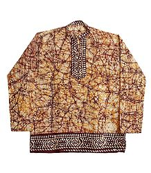 Batik Short Kurta for Men