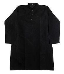 Black Cotton Kurta for Men