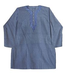 Grey Cotton Kurta