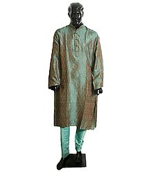 Cotton Silk Kurta and Churidar for Men