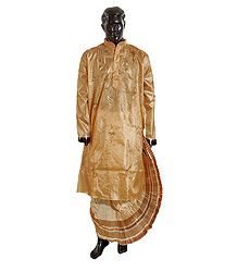 Ready to Wear Dhoti with Embroidered Kurta