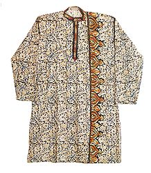 Buy Kantha Embroidery on Kalamkari Kurta