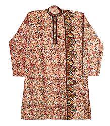 Buy Kantha Embroidery on Kalamkari Kurta