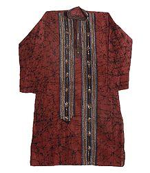 Kantha Embroidery on Batik Kurta