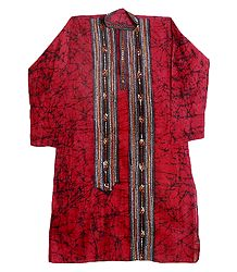Kantha Stitched Batik Kurta