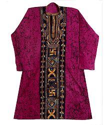 Buy Kantha Embroidery on Batik Kurta