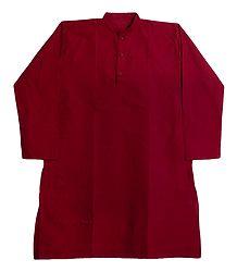Red Cotton Kurta for Men