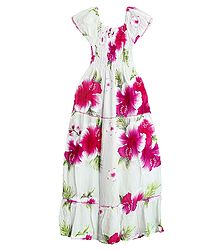 Ladies Cotton Printed Gown - Online Store