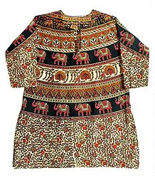 Sangeneri Print Cotton Dress