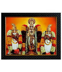 Balaji with Rukmini and Satyabhama - Wall Hanging