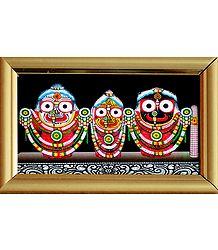 Jagannath, Balaram, Subhadra - Framed Table Top